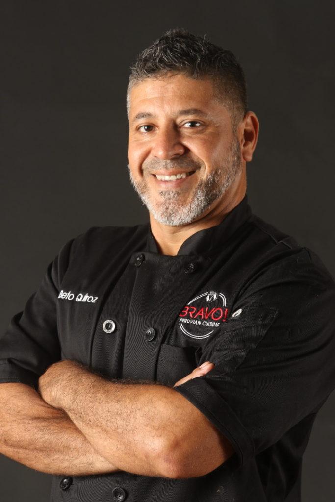 A portrait of Chef Beto Quiroz of Bravo Peruvian Kitchen